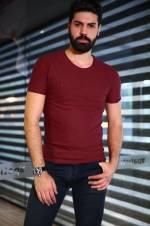 Erkek Bordo T-Shirt - TŞT002400004