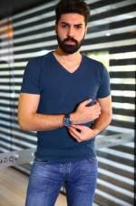 Erkek İndigo T-Shirt - TŞT002400001