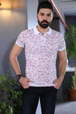 Erkek Polo Yaka Desenli T-Shirt - TŞT001200447