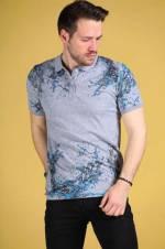 Erkek Polo Yaka Desenli T-Shirt - TŞT0024E6121