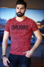 Erkek Ön Desenli Nar T-Shirt - TŞT001200424